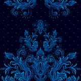 Vintage background, baroque pattern