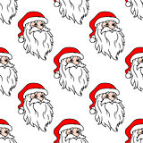 Cartoon Santa seamless pattern