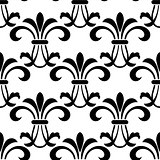 Seamless pattern with decorative floral elements