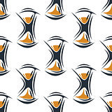 Seamless pattern with hourglasses