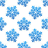 Crystal and snowflakes seamless pattern background