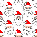 Christmas seamless pattern background with Santa head