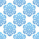 Decorative seamless pattern with snowflakes