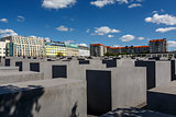 The Jewish Holocaust Memorial in Central Berlin, Germany
