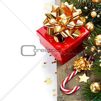 Christmas Candy Cane and gift box
