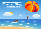 Parasailing - summer kiting activity