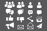 Blog & Social Media icons