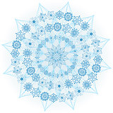 Big blue glowing snowflake