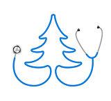 Stethoscope in shape of tree