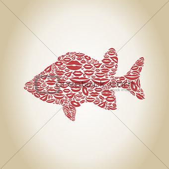 Fish a lip