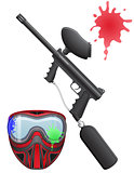 paintball set vector illustration