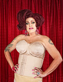 Drag Queen in Girdle