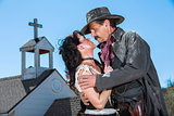 Romantic Old West Man and Woman