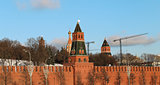 Walls and towers of the Moscow Kremlin