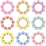 Colorful Round Frames