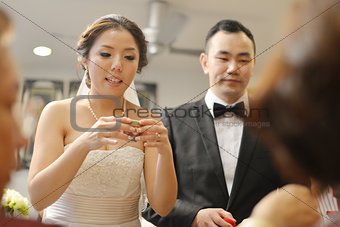 Asian Chinese wedding tea ceremony