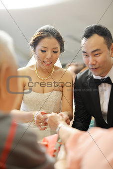 Asian wedding tea ceremony