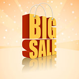 Big sale text on a festive background