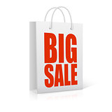 Big sale, shopping bag