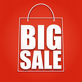 Big sale poster, shopping bag