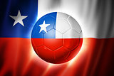Soccer football ball with Chile flag