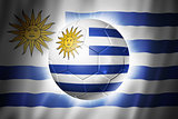 Soccer football ball with Uruguay flag