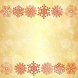 Gold  glowing seamless christmas pattern