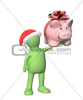 3d puppet with piggy bank