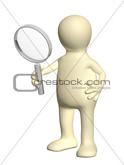 3d puppet with magnifier