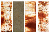Set of banners with rusty metal texture