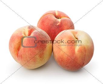 Three beautiful peaches