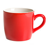 red coffee mug