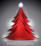 Abstract Christmas Tree Background