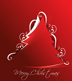 Christmas Tree Background with floral
