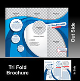 Tri Fold Blue Wave Brochure