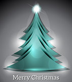 Vector Christmas Tree With Sparkle