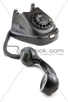 antique black phone