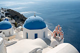 Church in Oia on the island of Santorini in Greece.