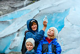 Family near Nigardsbreen glacier (Norway)
