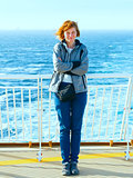 Woman on the deck of the ship