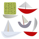 vector various boats