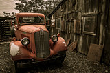 Jerome Arizona Ghost Town red truck