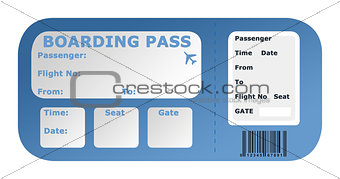 Aircraft boarding pass