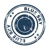 Blue Sky concept stamp