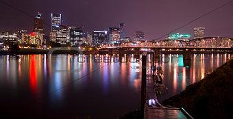 Hawthorne Bridge and Portland