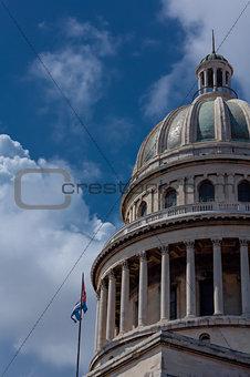 Capitol en La Havana and sky