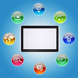 Tablet PC and program icons