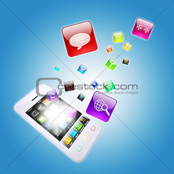 Smart phone and program icons