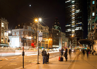 City of London in the night
