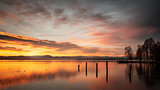 Starnberg Lake in Germany Sunrise